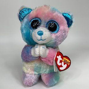 Ty Beanie Boos HOPE the Praying Bear- New with bot